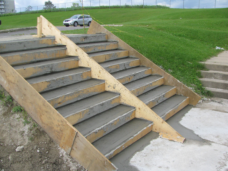 Coffrage escalier beton exterieur 28 images superb for Construction escalier exterieur beton