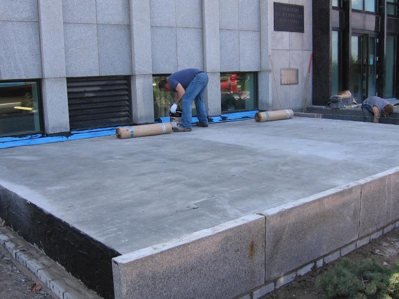 Imperm abilisation excavation et drainage les for Drainage autour d une terrasse