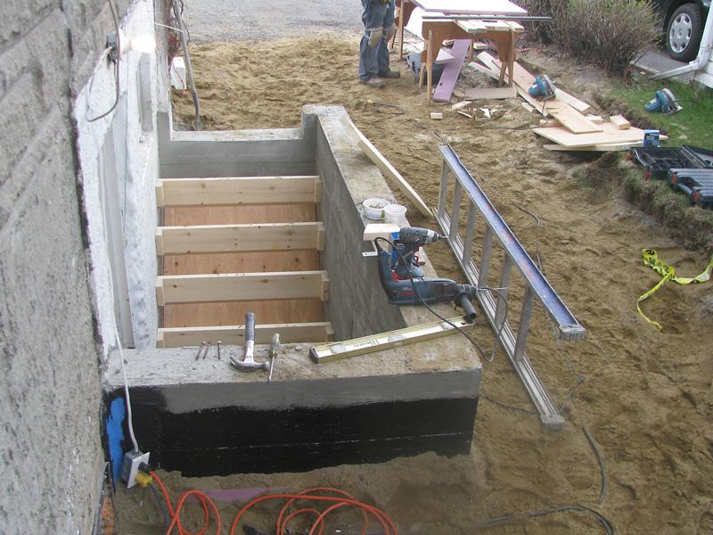Menuiserie les entreprises fortin gari py - Comment faire une descente de garage en beton ...